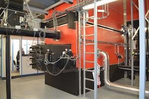La chaudière Justsen de 2 MW à Grandvilliers, photo Frédéric Douard