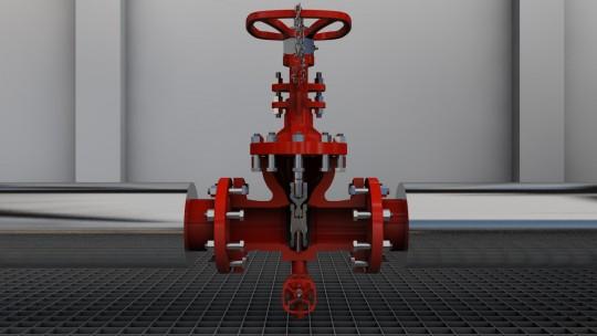 La vanne à double étanchéité SNRI, image photo Guillaume Simon, graphiste 3D à Lyon