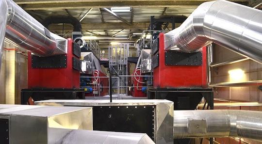 Les échangeurs des deux chaudière Compte R. de 8,8 MW, photo Frédéric Douard