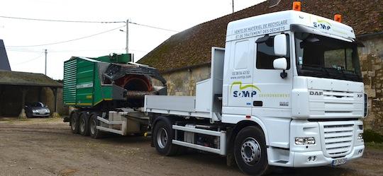 Retour de transfert pour la coupeuse hybride Neuson Ecotec CH 1266 de Bi-Vert, photo Frédéric Douard