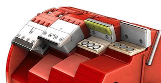 Différents outils de coupe interchangeables sur le rotor du broyeur Saalasti