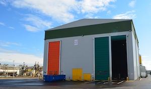 Le bâtiment de traitement et d stockage du combustible, photo Frédéric Douard