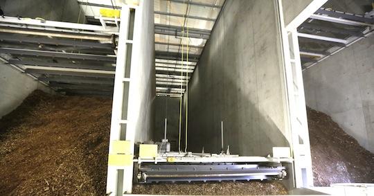 Les cellules de stockage avec leurs herses de désilage TBM Vecoplan, photo SITA