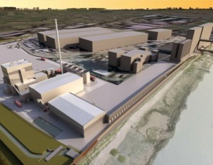 Illustration 3D de la centrale de Tilbury Green Power