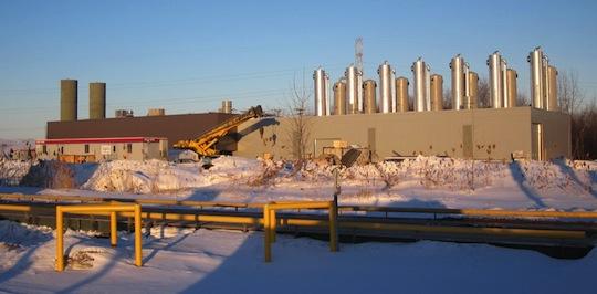 L'usine de purification de biogaz à Terrebonne, photo Vision Enviro Progressive