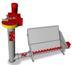 Vis verticale Hargassner pour le remplissage du silo