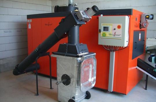 Chaudière Heizomat RHK-AK avec chaine de décendrage