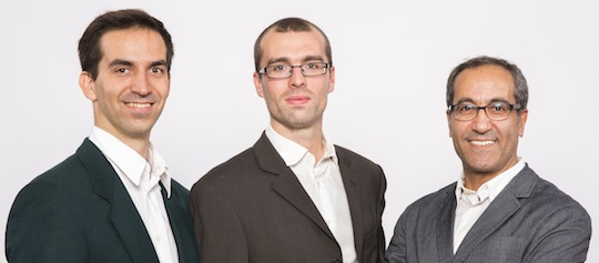 Depuis la gauche, Thomas Le Cointe, François Gallic et Abdelaziz Berkoune, photo Scheuch