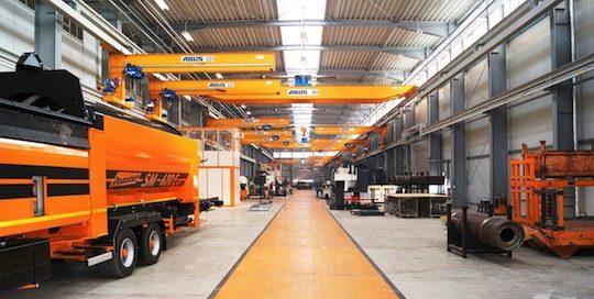 Hall de production Doppstadt à Calbe, photo Doppstadt
