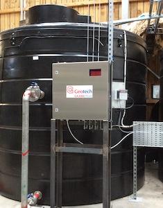 Le boitier de l'analyseur GA 3000 Plus sur un site, photo Geotech