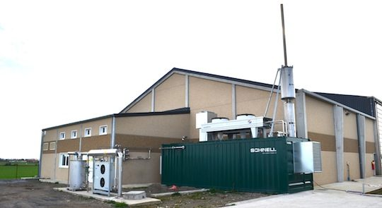 Le module de cogénération Schnell chez Agri Flandres Energie, photo Frédéric Douard