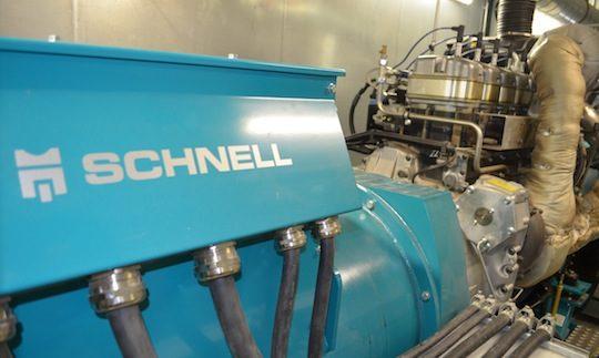 Le moteur de cogénération  de Agri Flandres Energie, photo Frédéric Douard