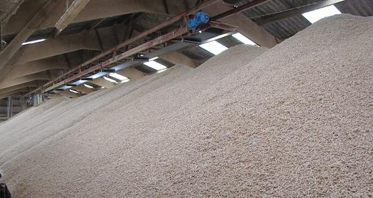 Le premier silo à granulés mécanisé aménagé par ABE, photo ABE