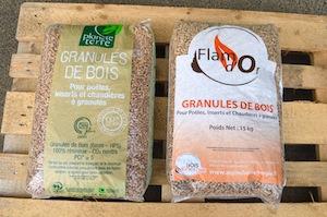 Les marques de granulés commercialisées par ABE, photo Frédéeic Douard