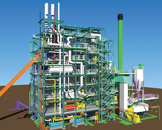Schéma 3D de la centrale AET d'Orléans Nord