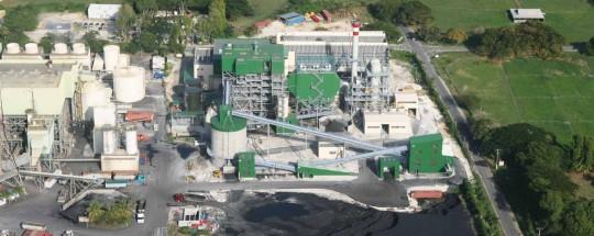 La centrale électrique du Moule en Guadeloupe