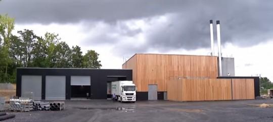 La chaufferie bois du quartier Europe de Saint-Quentin, photo Cofely