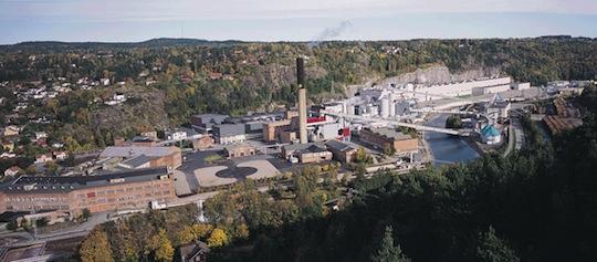 L'usine Norske Skog de Saugbrugs
