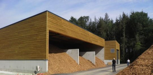 La chaufferie de Saint-Jacut du Mené, photo Atelier d'Architecture Gautier & Guilloux