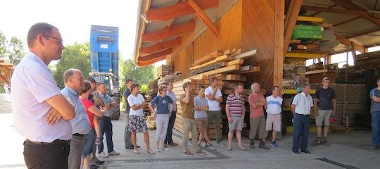 Réunion chez Broyage Noeppel à Romanswiller le 6 juillet 2015, photo Fibois Alsace