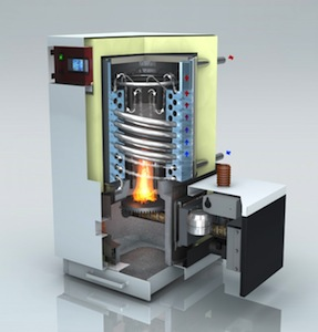 BioCurve BCH, chaudière à granulé à condensation avec échangeur à spirale