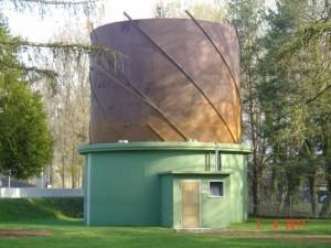 Le gazomètre, photo Service des travaux d'Yverdon