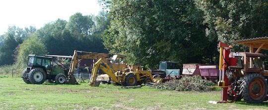 Parc de matériel de la ferme forestière de Beautheil, photo Rémi Foucher
