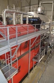 L'une des deux chaudières Compte de 8 MW à Chambéry Bissy, photo Frédéric Douard