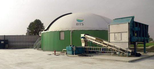 L'unité de méthanisation de la ferme Grazioli de Borghetto, photo BTS Biogas