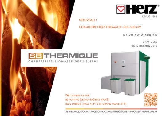 SB Thermique importateur des chaudières automatiques à bois Herz