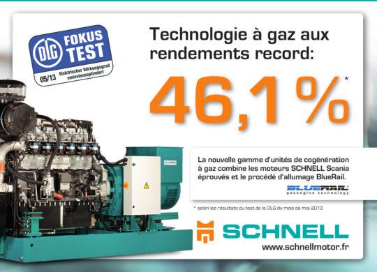 Cogénérateurs Schnell Motoren  à injection pilote pour le biogaz