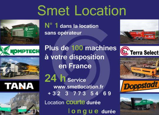 La location de broyeurs sans opérateur, courte ou longue durée Smet Location