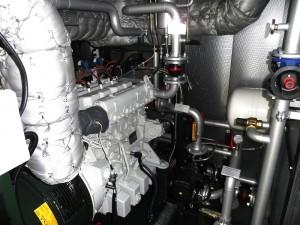 Le moteur de cogénération MAN de 65 kWé au GAEC des Buissons, photo HoSt