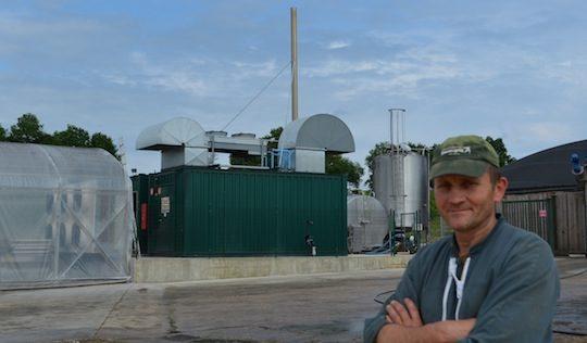 Bertrand Guérin, agriculteur-méthaniseur en Dordogne est vice-président de l'AAMF, photo Frédéric Douard