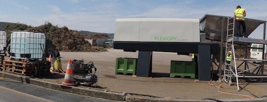 Le FLEXIDRY sur le site de la Compostière de l'Aube, photo GreenCREATIVE