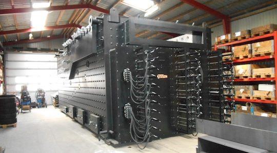 L'échangeur de la chaudière Justsen d'EADS en préparation à Braband au Danemark, photo Connexe