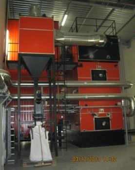 La chaudière Justsen de 4 MW chez EADS Les Mureaux, photo CIEC