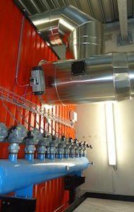 Sur la chaudière Justsen d'EADS, le ramonage pneumatique permet de garantir une performance continue de l'échangeur, photo Connexe