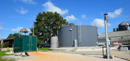 Unité de méthanisation Bio4gas à Domsure, photo Frédéric Douard