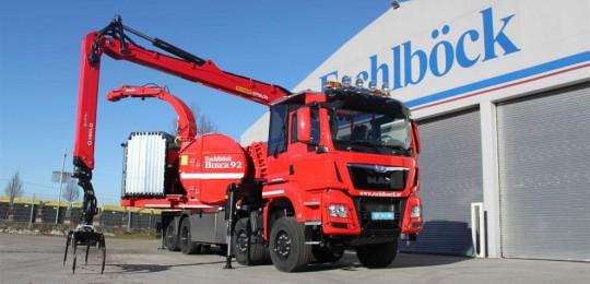 La Biber 92 RBM sur camion est équipée d'un moteur de 650 CV