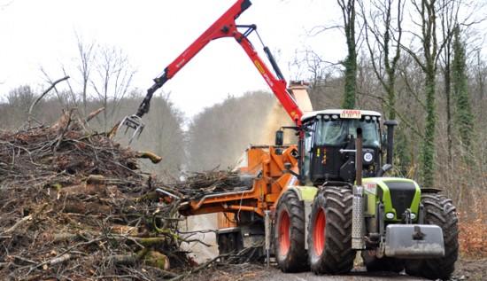 La déchiqueteuse de bois-énergie Noremat la plus puissance de France