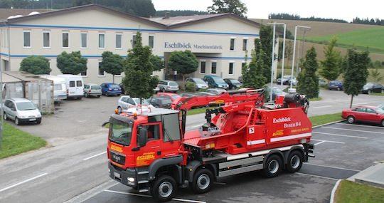 Eschlböck investit dans les machines de forte capacité sur camion, photo Eschlböck