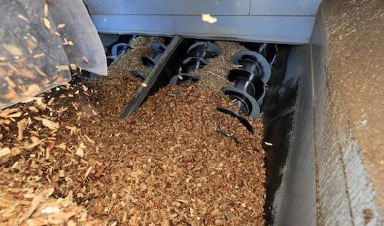 Fosse de réception de la biomasse Scaldis, photo Cofely
