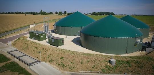 Installation de Létang Biogaz à Sordun en Seine-et-Marne, photo Grégory Brandel pour GrDF