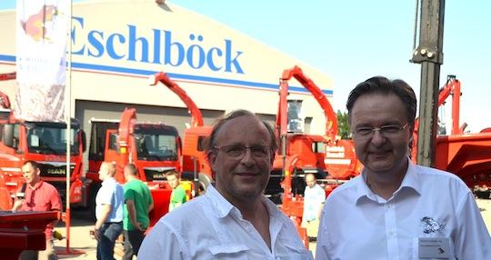 Jacques Lidy de Nidal à gauche de Rudolf Eschlböck, photo Frédéric Douard