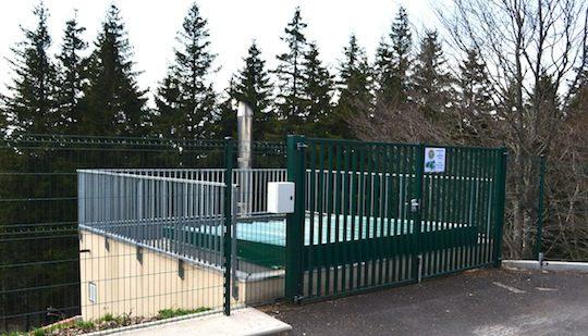 L'accès au silo, parfaitement sécurisé dans cet ERP, photo Frédéric Douard