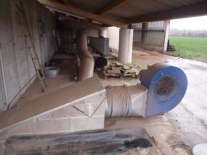 Les installations de ventilation pour le séchage au GAEC du Boscor