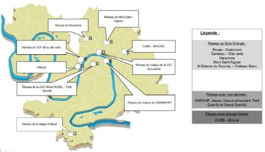 Les réseaux de chaleur de Rouen Métropole -Cliquer sur l'image pour agrandir.