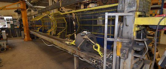 Machine à étirer la spire chez PST, photo Frédéric Douard