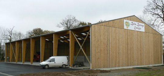 Nouvelle plateforme de bois déchiqueté de b²é à Athis-de-l'Orne, photo FDCBN